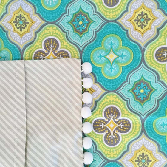 Image of Turquoise Pattern Pillow Sham