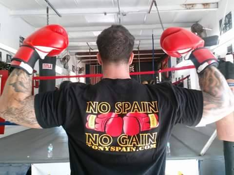 Image of No Spain, No Gain T-shirt (Black or Heavy Metal)