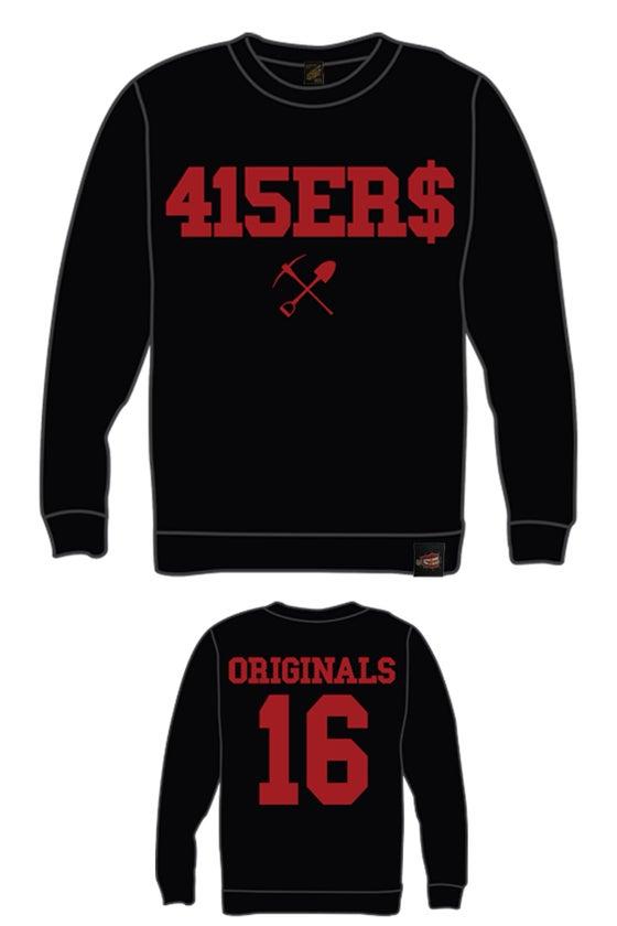 Image of EXCLUSIVE 415ER$ BLACK & RED CREWNECK