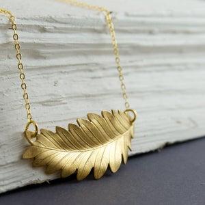 Image of Athena - Gold Leaf Necklace