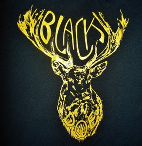 Image of Mary Epworth Black Doe T-Shirt - Black and Gold