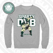 Image of SPARTY DAB - Grey crew neck sweat shirt