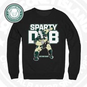 SPARTY DAB - black crew neck sweat shirt