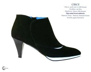 Image of CIRCE Noir SUEDE- Black