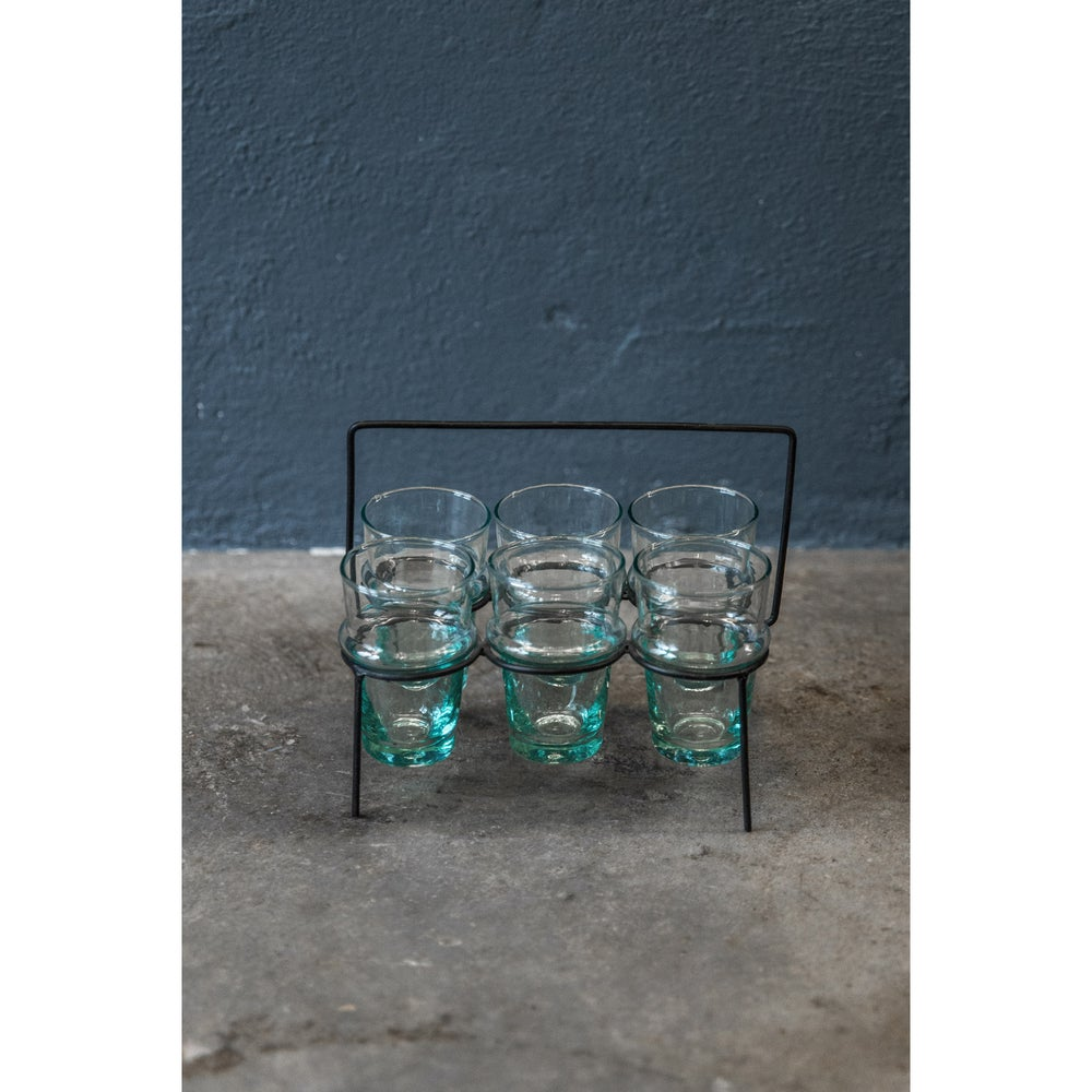 Image of Beldi Teaglass with metal holder