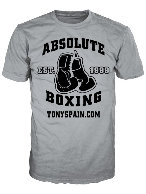 Image of Absolute Boxing T-shirt (Gray/Black or Red/White)