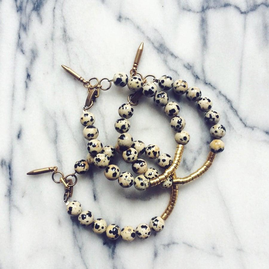 Image of Luna Bracelet - Dalmatian Jasper