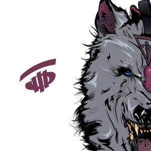 Image of Bordeaux Wolf Art Print
