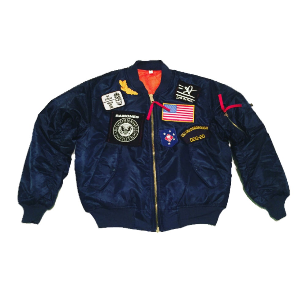 Image of LMF Navy Blue MA-1 Flight Jacket