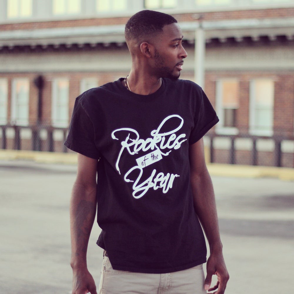 Image of Black Rookies Of The Year Shoelace Tee