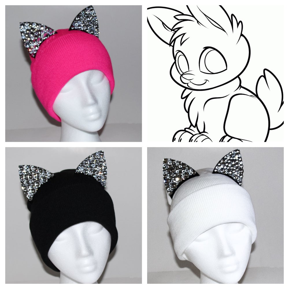 Image of Crystal Kitty Beanies