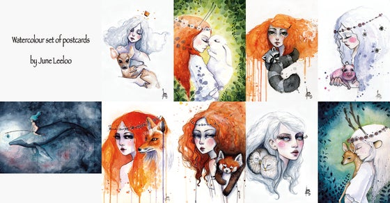 Image of Watercolor postcards set *PREORDER*