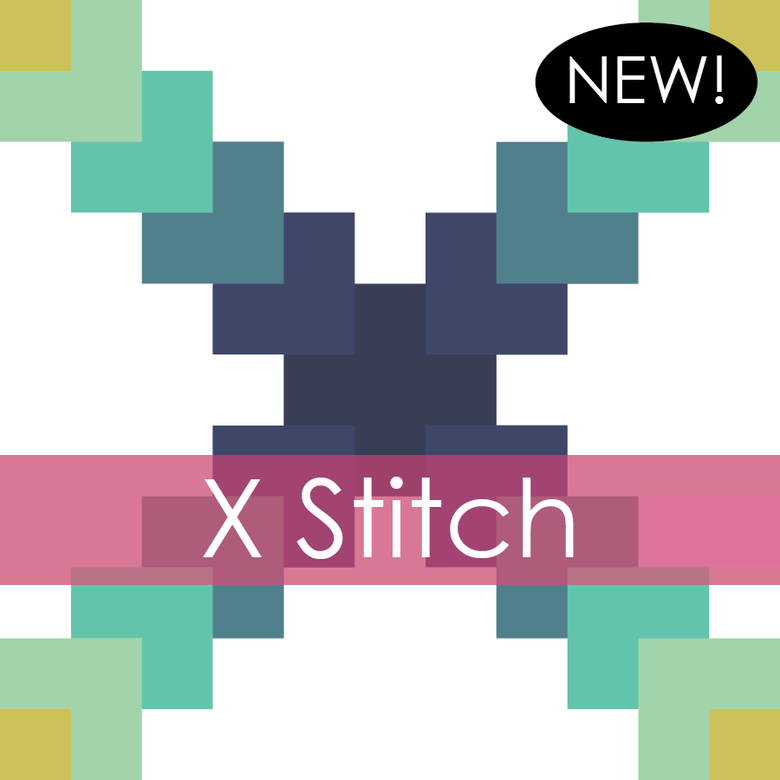 Image of X Stitch Mini Quilt #117, PDF Pattern