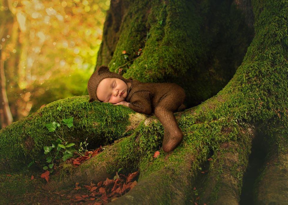 Image of Little Bear Jammy Onesie & Bonnet Set