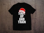 Image of Mens Christmas Shut Up & Train Blk/White Tshirt