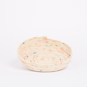 Image of HAND MADE & HAND PAINTED ROPE VESSEL ORIGINAL SERIES EXTRA LARGE FLAT