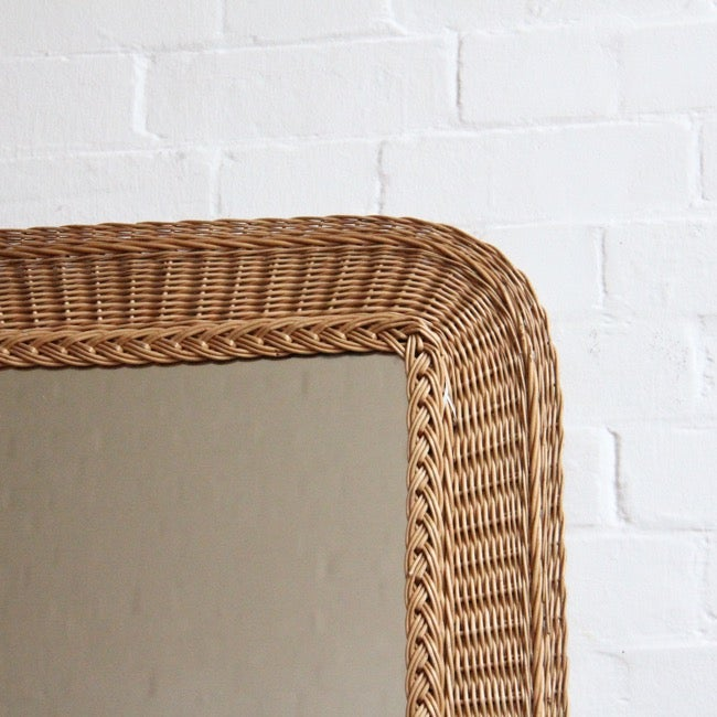 Image of French rattan mirror