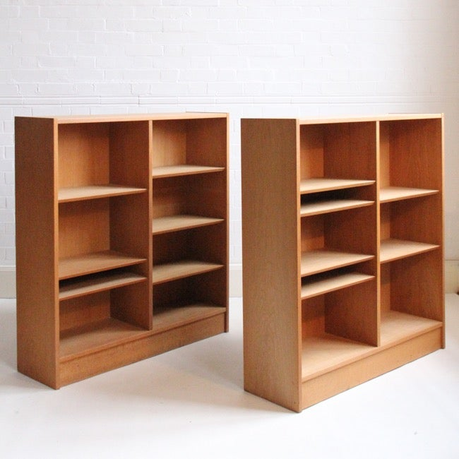 Image of Danish book cases by Poul Hundevad (sold as a pair)