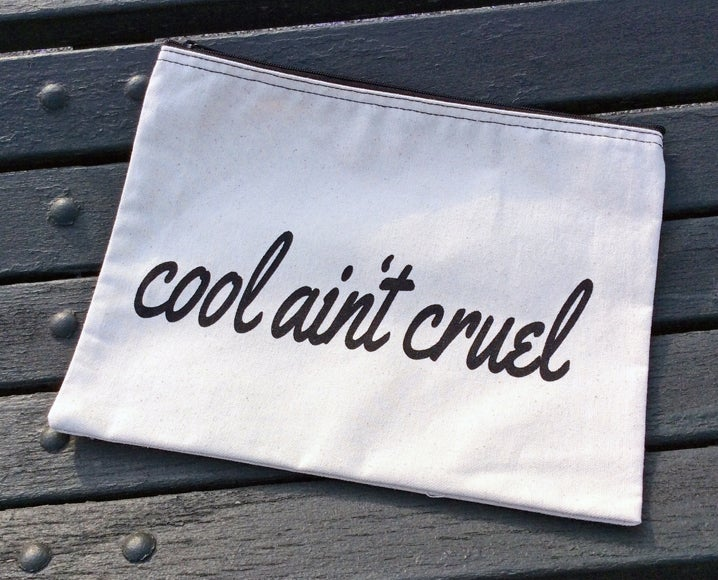 Image of Cool ain't cruel makeup bag collab with The Little Foxes