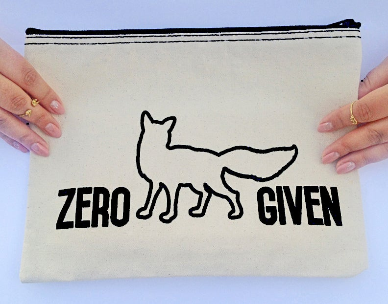 Image of Zero Fox Given makeup bag collab with The Little foxes