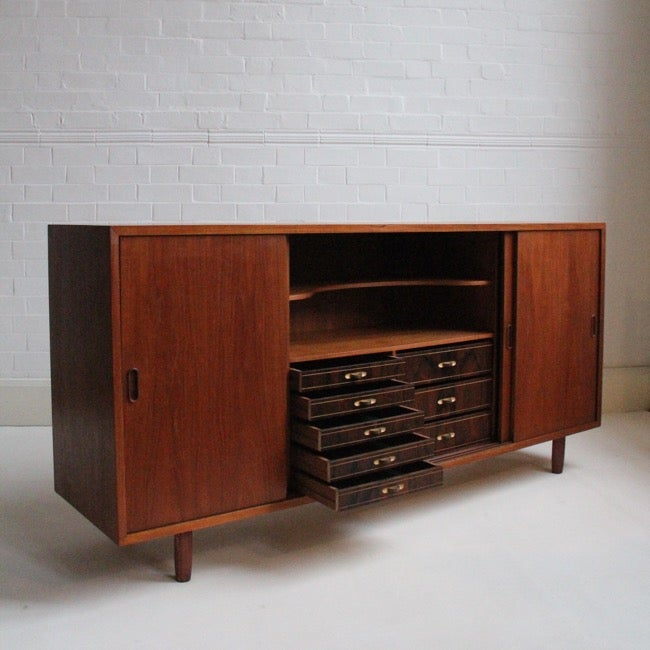 Image of Large danish sideboard with rosewood drawers