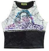 Image of Women's Handmade Electric Factory Spandex Crop Top