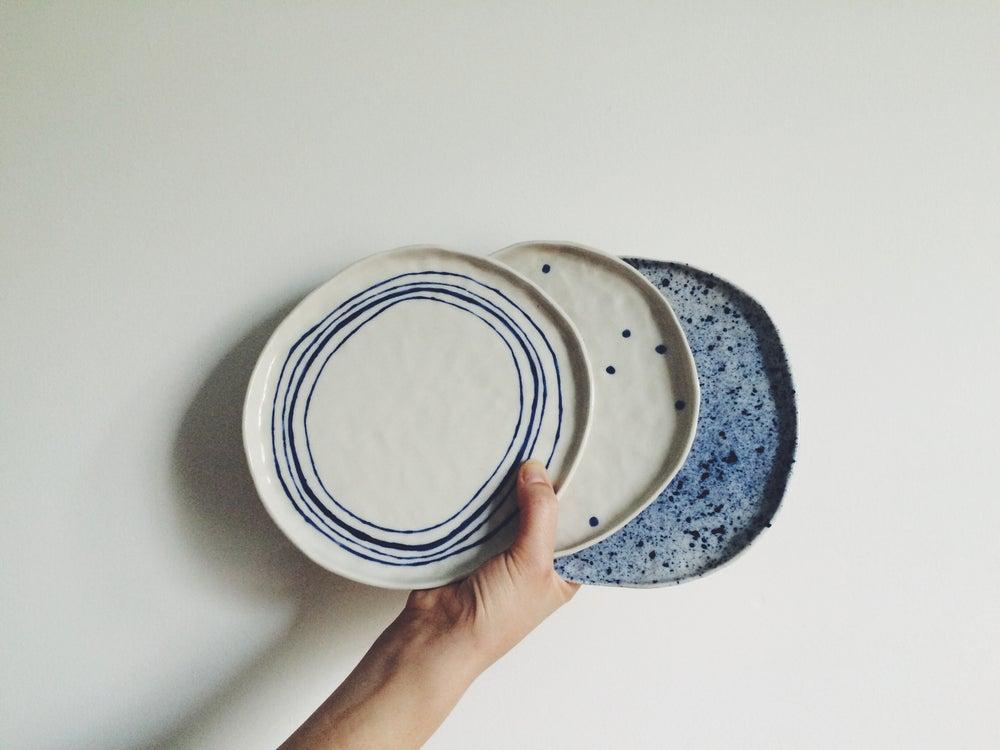 Image of Cake Plates // Blue