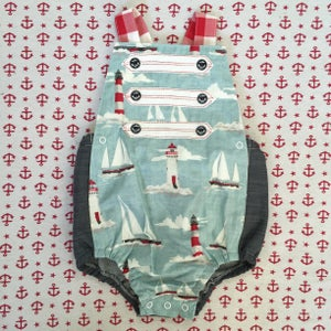 Image of Drop Anchor rompers size 2