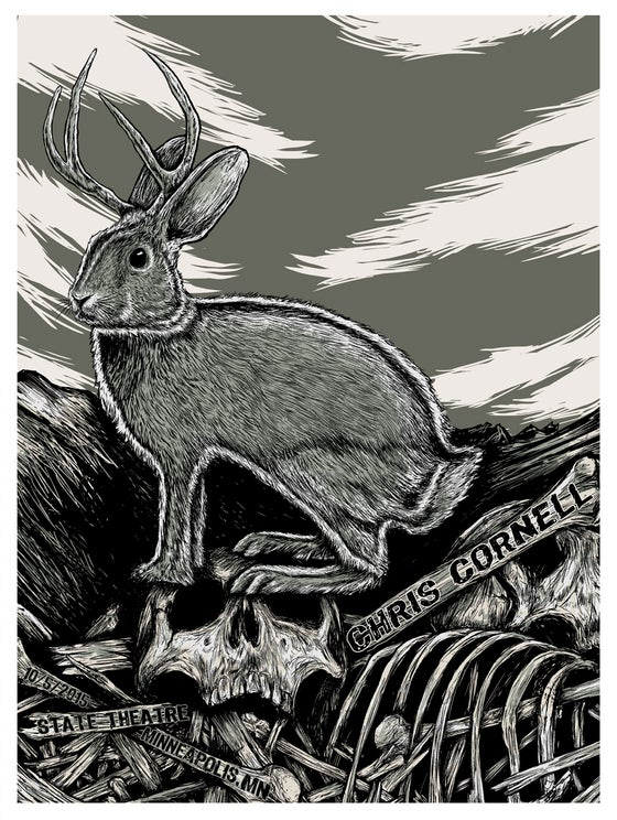 Image of CHRIS CORNELL - GIG POSTER - MINNEAPOLIS,MN - 10/5/15