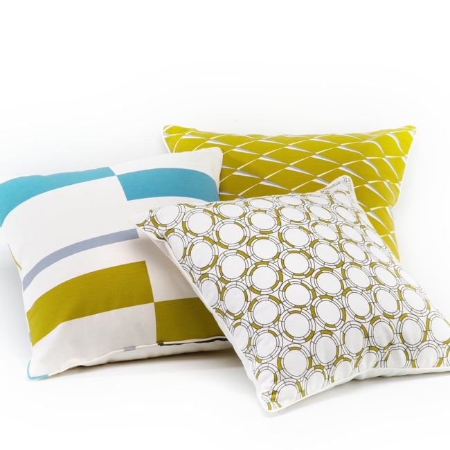 Image of BAUHAUS STRIPE CUSHION COVER YELLOW/SILVER