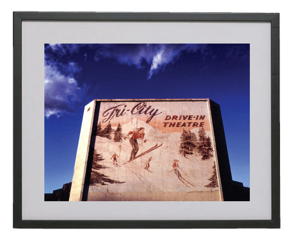 "Image of Chris Darrow - 16"" x 20"" Ltd Ed Giclee Print - TriCity Drive-in"