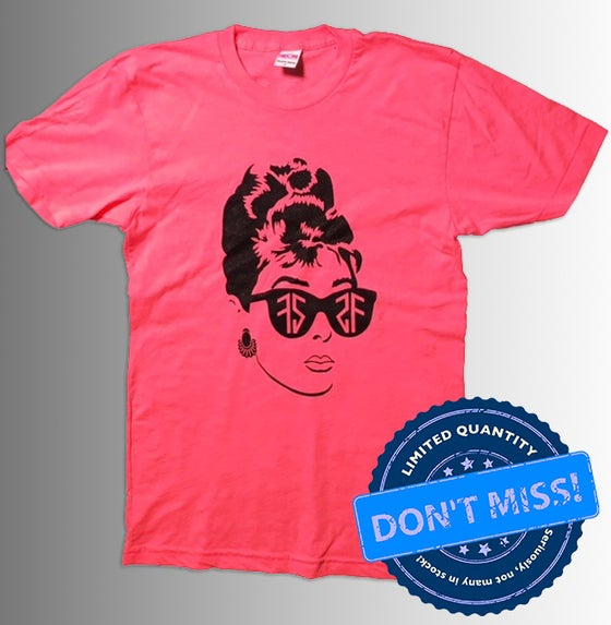 Image of (Limited Edition) Audrey T-Shirt - Neon Pink (FREE TOTE BAG)