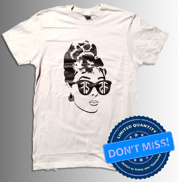 Image of (Limited Edition) Audrey T-Shirt - Light Grey (FREE TOTE BAG)