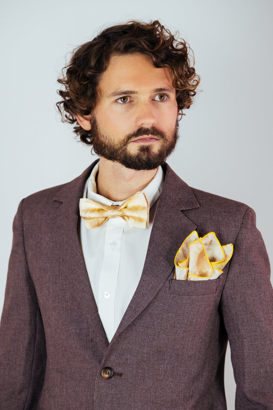 Image of Men's Silk Bow Tie / Eucalyptus
