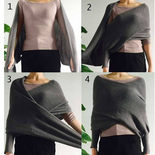 Image of FASHION FEMALE LAPEL OFF-THE-SHOULDER SEXY ULTRASHORT PULLOVERS SMOCK
