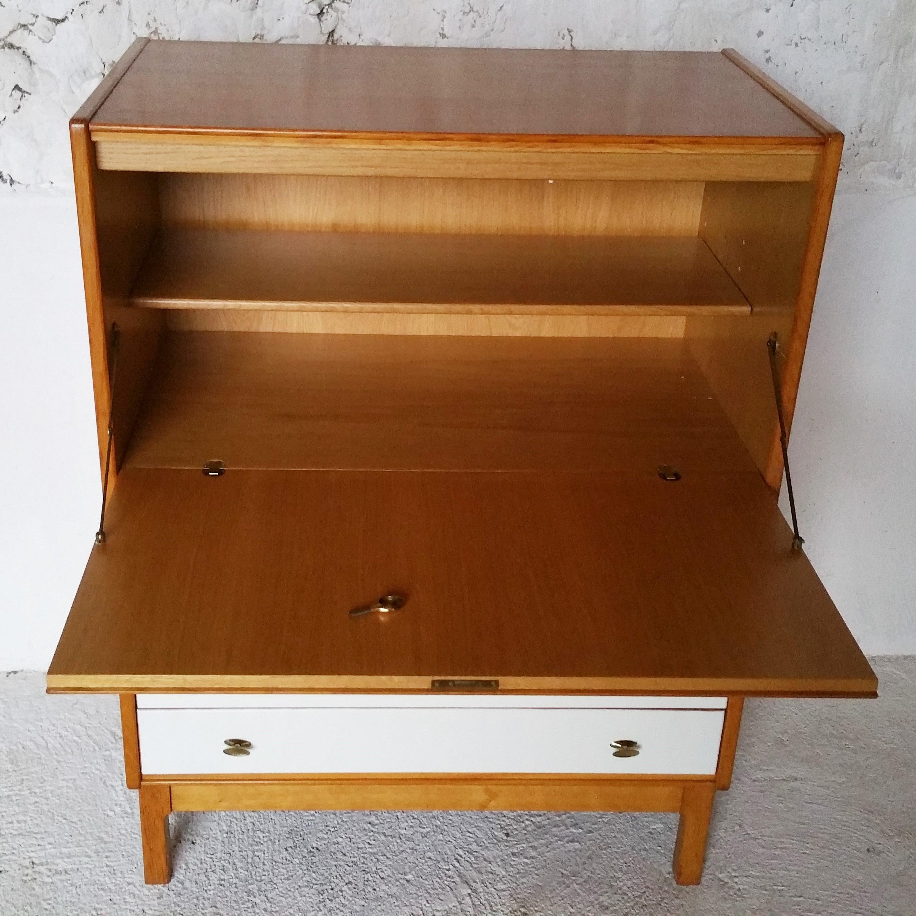 Petit secrétaire vintage en bois massif fibresendeco vannerie artisanale& mobilier vintage