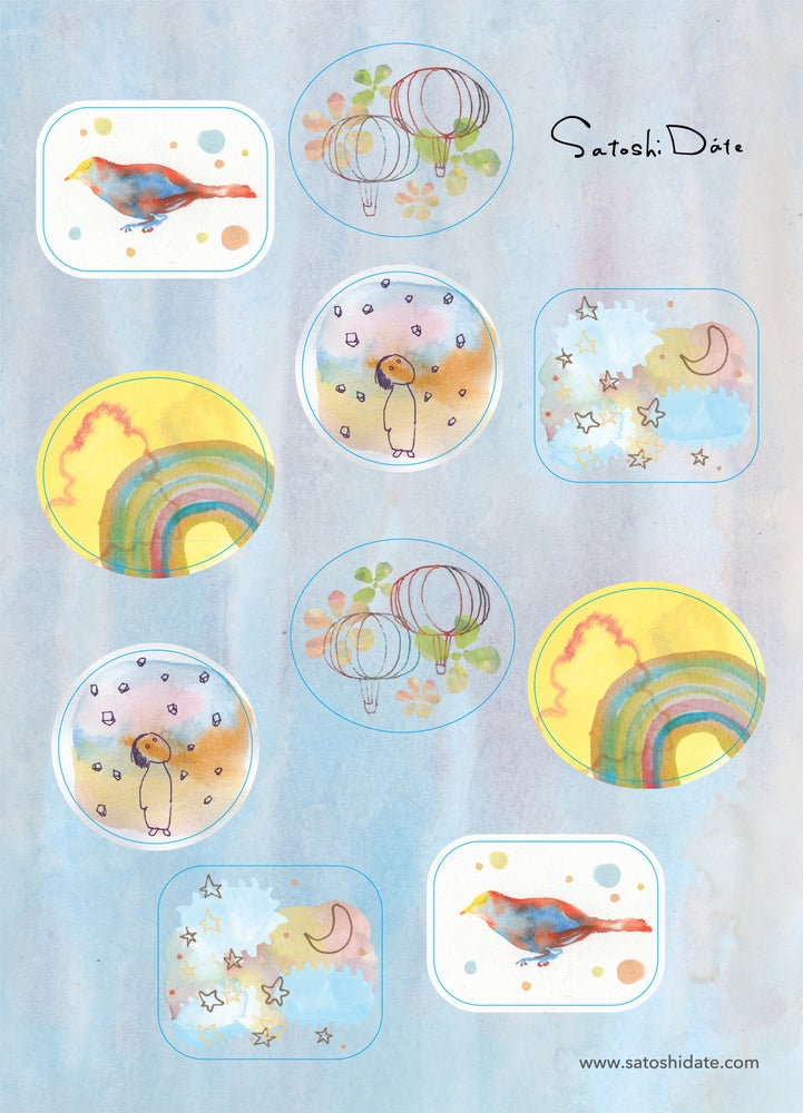 Image of Sticker Sky / シール<空>