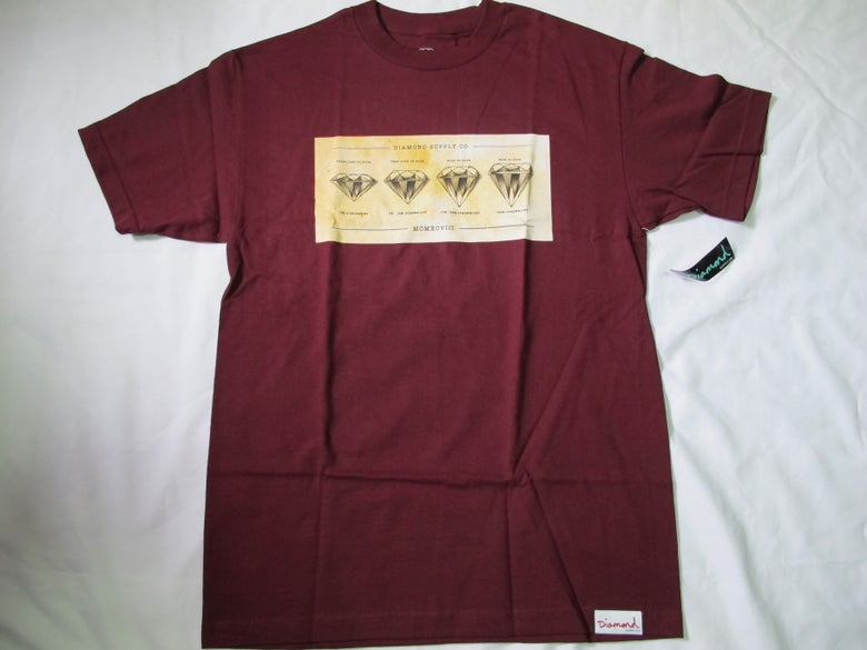 Image of DIamond Supply Co. - Diameter tee (Burgundy)