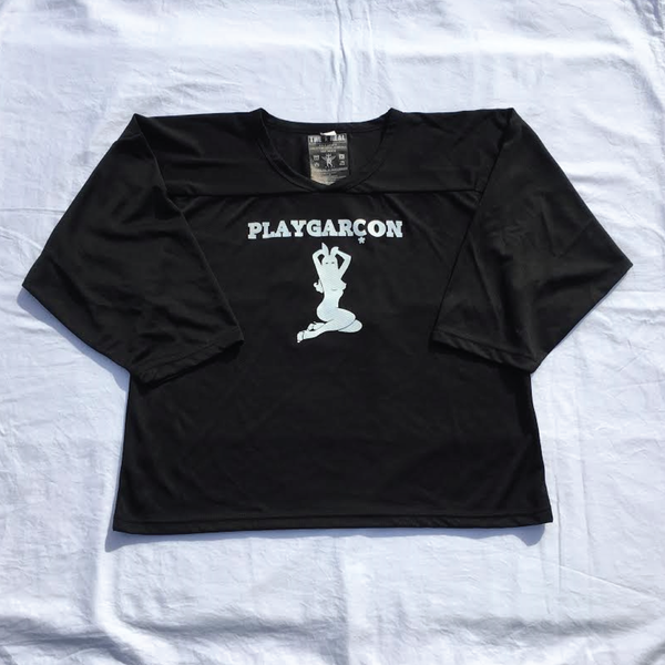 Image of PLAYGARCON Home Hockey Jersey (Black)