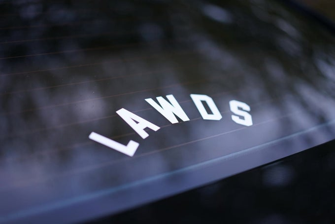 "Image of ""LAWDS"" decal"