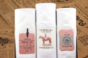Image of Box of III Men's Handkerchiefs: Horse Race
