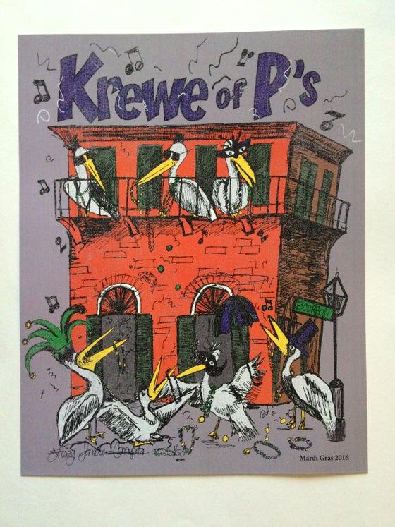 Image of 2016 Krewe of P's Mardi Gras Poster