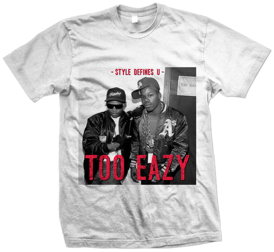 """Image of """"Too Eazy"""" tee (White/Infrared)"""