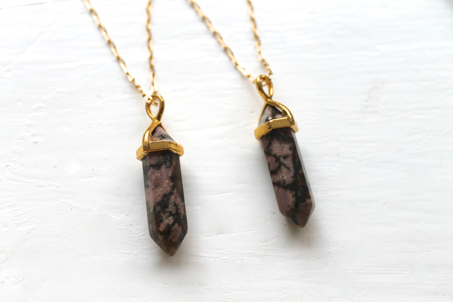 Image of Gold Indian Agate Point Necklace