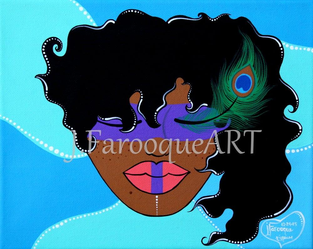 "Image of ""Peacock Masquerade"" Poster Print!"