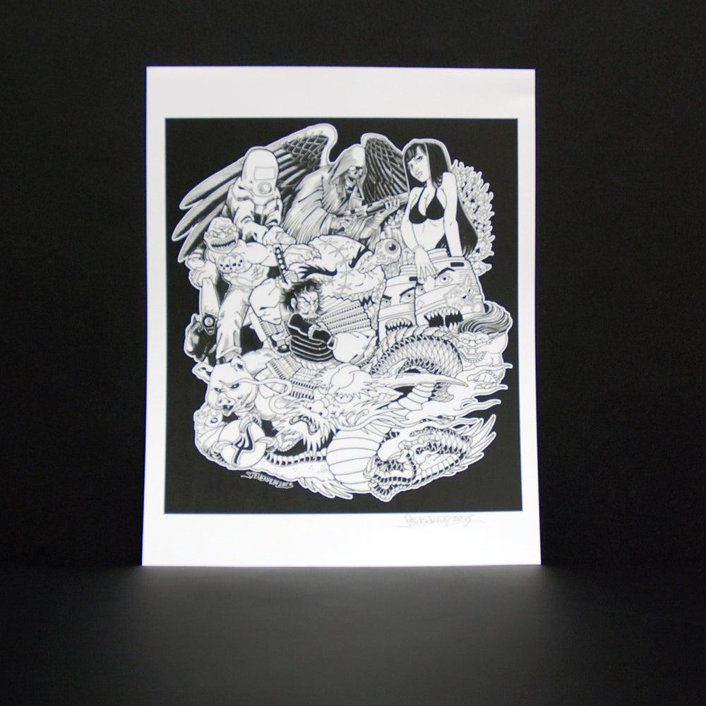 Image of STEVEN HUIE - PITCHFORK PRINT