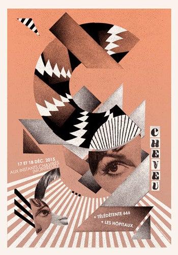 Image of CHEVEU (Instants Chavirés /2015) screenprinted poster