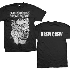"Image of NO REDEEMING SOCIAL VALUE ""Distressed Mic Man Crew"" T-Shirt"