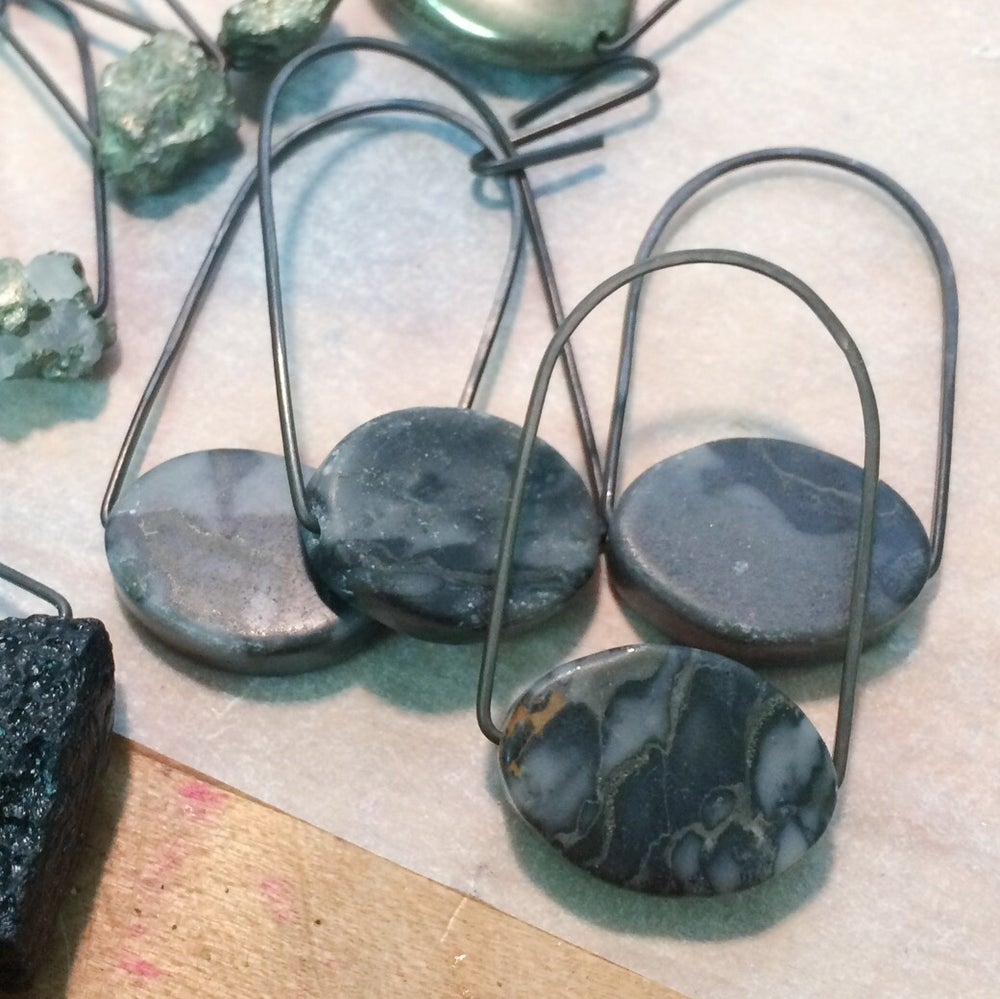 Image of Canyon Marble Loop or Drop earrings, IN STOCK