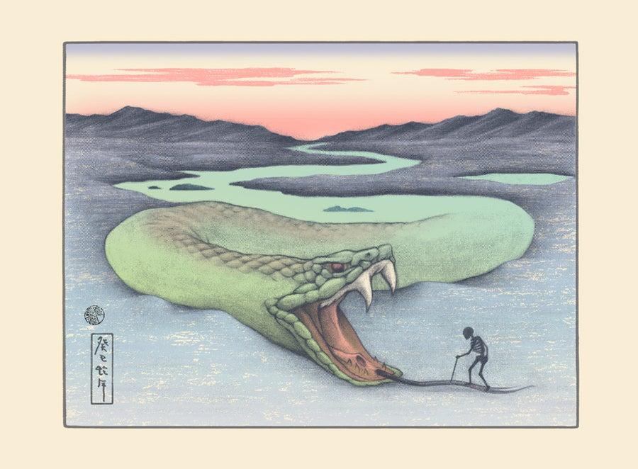 Image of Chinese Zodiac Series Art Print -'Journey - Year of the Snake'-Handpull SilkScreen